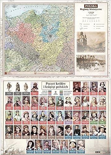 Mapa Dwustronna A2 Regiony Historyczne Polski 9788365748034