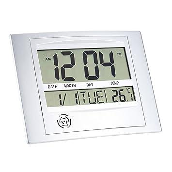 Hense electrónico de temperatura medidor Digital Calendario de pared reloj despertador termómetro ht07