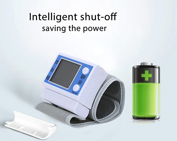 - Tensiómetro de muñeca - Fácil Health Care portátil digital de presión arterial Tester automática con grandes Backlit LCD - 200 Juego de memoria, ...