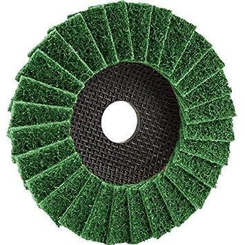 1 arandela de estrella 125 x 22,23, Trimfix Fleece-solapa, rueda de pulido, para moler y pulido: Amazon.es: Bricolaje y herramientas