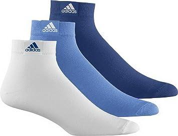 Adidas Plain T3p – Calcetines 3P Thin Azul/Blanco (3 Unidades), Lucky