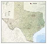 National Geographic: Texas Wall Map - Laminated (40.75 x 38.5 inches) (National Geographic Reference Map)