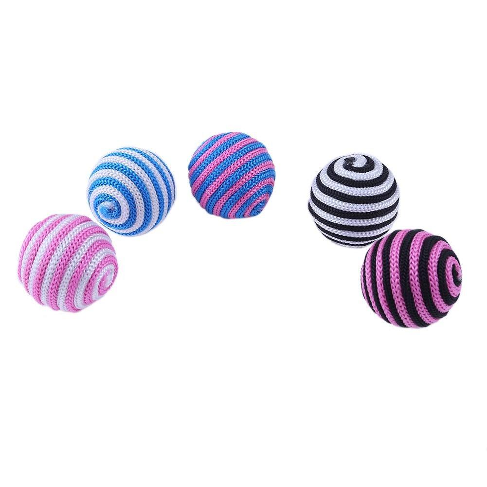 Demiawaking - Juego de 12 bolas interactivas para gatos, juguetes para gatos y gatitos, color al azar