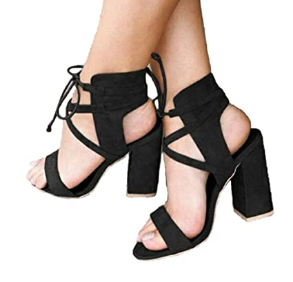 b4e55c8a2d11 Amazon.com  Genepeg Womens Sandals Summer Sexy High Heels Gladiator Open  Toe Lace up Summer Shoes  Sports   Outdoors