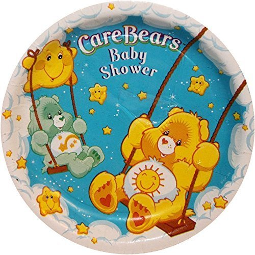 Care Bears Baby Shower Small Paper Plates (Care Bear Baby Shower)