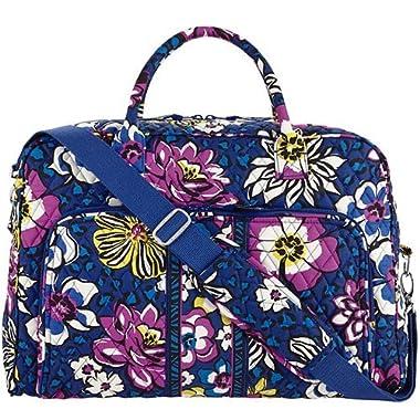 Vera Bradley Women's Weekender African Violet Duffel Bag