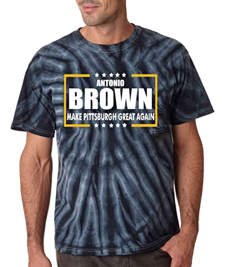 d24cf5b72 PROSPECT SHIRTS TIE-DYE Black Pittsburgh Brown Make Pittsburgh Great Again T -Shirt Adult