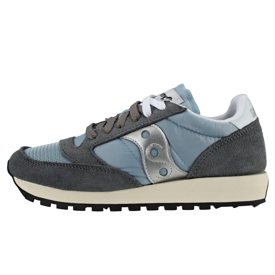 Saucony Originals Women's Jazz Vintage Running Shoe B07955LLZ1 8.5 M US|Grey/Blue/White