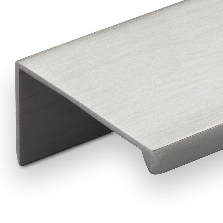 Alu M/öbelgriff SEARL 680 mm Edelstahloptik Griff-Profilleiste Schubladengriff K/üchengriff von SO-TECH/®