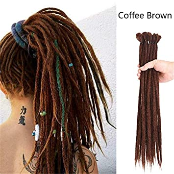 20 20 Strängepack Handmade Dreadlocks Dreads Haarverlängerungen Hair Extensions Synthetik Braiding Häkeln Für Afro Damen Herren Haar Ombre Faux Locs