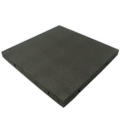 "Rubber-Cal ""Eco-Safety Interlocking Playground Tiles - 2.50 x 19.5 x 19.5 inch - Pack of 10 Playground Mats, 28 Square Feet Coverage - Black: Sports & Outdoors"