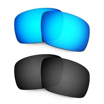 HKUCO Plus Mens Replacement Lenses For Oakley TwoFace Blue/Titanium Sunglasses waZwAL