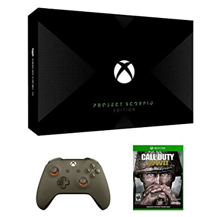 2283bee9ba6a Amazon.com  Xbox One X Project Scorpio WWII Bundle (3 Items)  Xbox One X  1TB Project Scorpio Console
