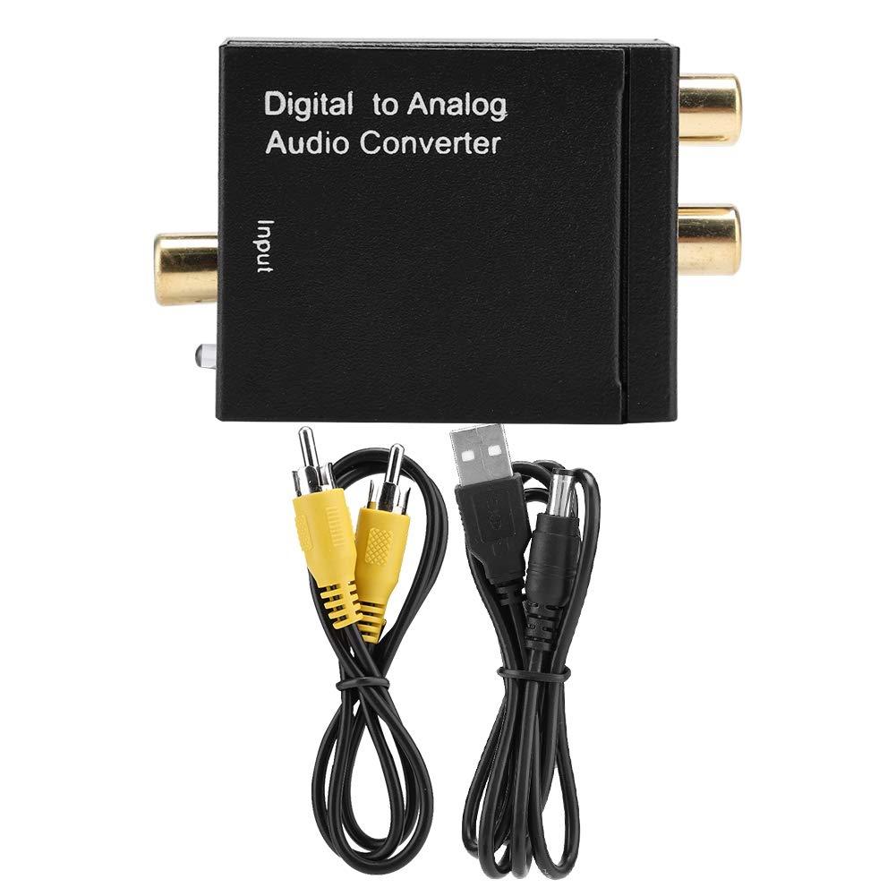 Liukouu Dual Chip Digital óptico coaxial Toslink a convertidor de audio analógico RCA con cable coaxial USB: Amazon.es: Industria, empresas y ciencia