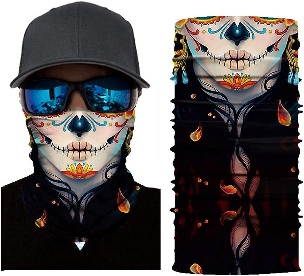 KPPONG Unisex Damen//Frauen Hals Gamasche Gesichtsmaske Gesichtsmaske,Gesichtsschal,Nahtlose Maske,M/ütze,Kopftuch,Mundmaske-Atmungsaktiv /& Schnelltrocknend Multifunktionstuch,Sturmhaube