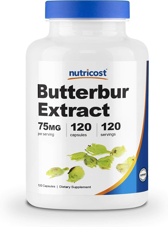 Nutricost Butterbur Extract Capsules (75mg) 120 Capsules - Gluten Free, Non-GMO, Vegan Friendly