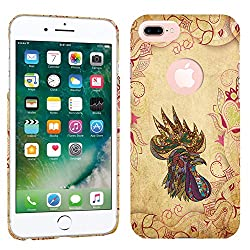 iPhone 7 Plus Case / iPhone 8 Plus Case - Tribal Rooster Hard Plastic Back Cover. Slim Profile Cute Printed Designer Snap on Case by Glisten