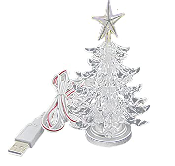 Amazon.com: USB Powered Miniature Christmas Tree Multicolor LEDs ...