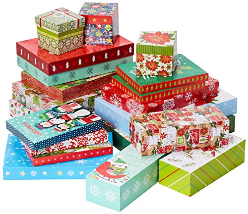 Christmas Gift Box Bundle Including Shirt Boxes, Lingerie Boxes and Robe Boxes (20 boxes total) -