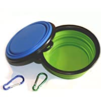 2-Piece Ponanic Silicone Foldable Collapsible Dog Bowl
