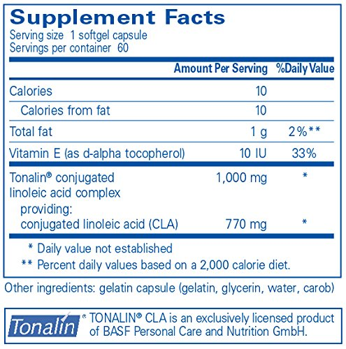 Pure Encapsulations CLA (Conjugated Linoleic Acid) 1,000 mg