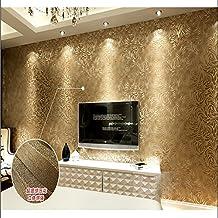 QIHANG Coffee Deep Embossing of High Texture Wallpaper Roll + Free Postage