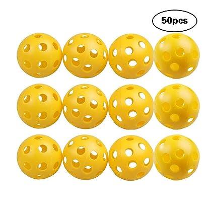 CDKJ 50 Bolas de plástico para la Bola de Entrenamiento de ...