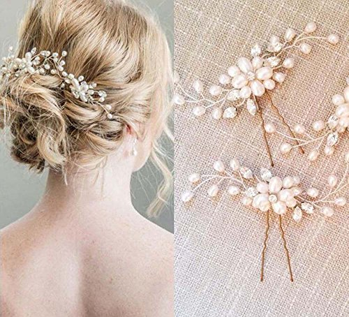 Unicra Wedding Hair Pin Decorative for Bridal(Pack of two)