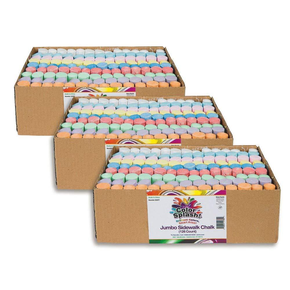 S&S Worldwide Giant Box of Sidewalk Chalk (3 Packs of 112) by S&S Worldwide