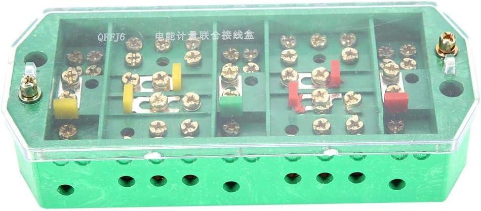 Caja de Conexiones 5-20A 660V, Caja de conexión Transparente QFJ6 / 2080-3 Terminal Row, Cables trifásicos gabinetes completos subestaciones Cajas de medidores para Cajas de medición: Amazon.es: Hogar