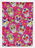 Caroline's Treasures BB5115GF Garden Size Day of the Dead Pink Flag, Multicolor, small Review