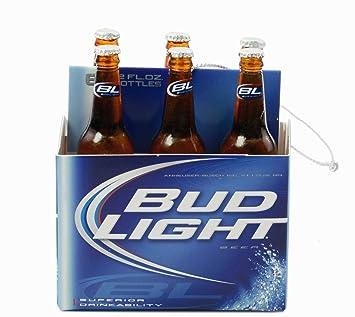 Amazon.com: Kurt Adler Budweiser Bud Light Six Pack Miniature Christmas  Ornament: Home U0026 Kitchen