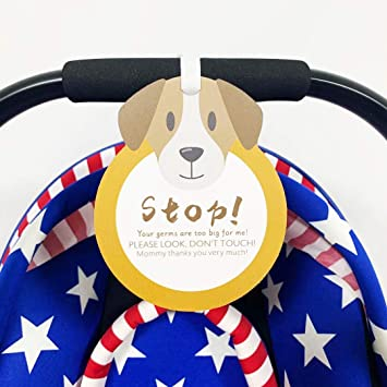 Please Look,Dont Touch Tag Sign W//Hanging Straps CORNERIA Baby Armor Newborn Girl Boy Sign, Baby Car Seat Tag, Stroller Tag, Baby Preemie, No Touching Car Seat Sign Tag Stop