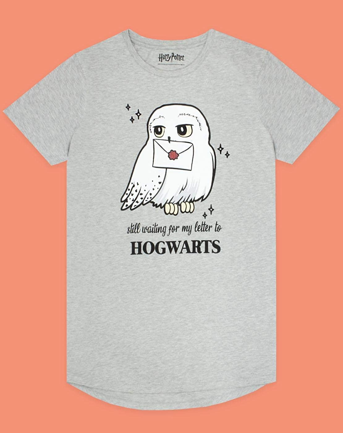 Grey algod/ón Noche Hedwig Harry Potter Hogwarts Vestido de Las Mujeres Pijama