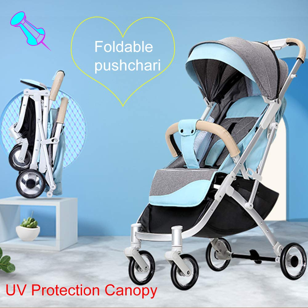 HRD Portable Stroller, for Reclining Pushchair, Collapsible Toddler Pram, Foldable Baby Umbrellas high Landscape Strollers, Safety by HRD