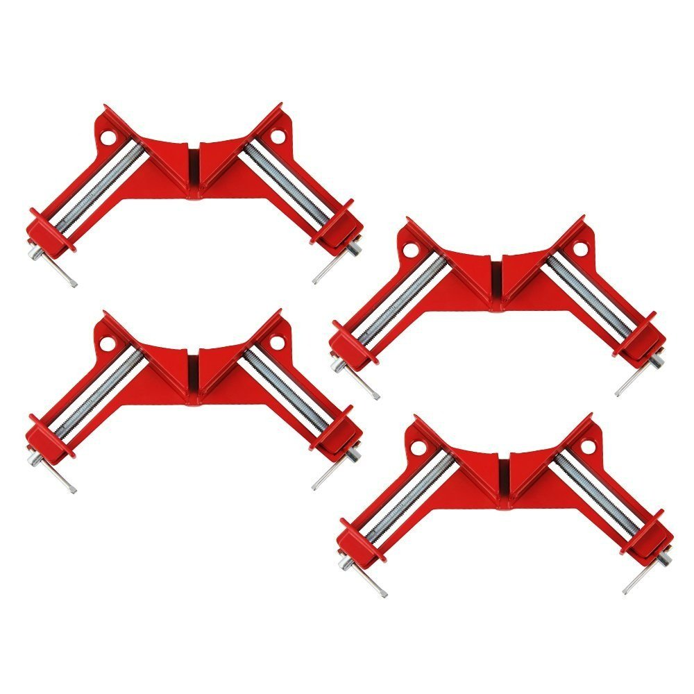 4 PCS Right Angle Clamp- Zilong Zinc Alloy 90 Degree Corner Clamp Quick-grip Corner Clamp DIY Woodworking Miter Picture Photo Frame Corner, Glass Holder