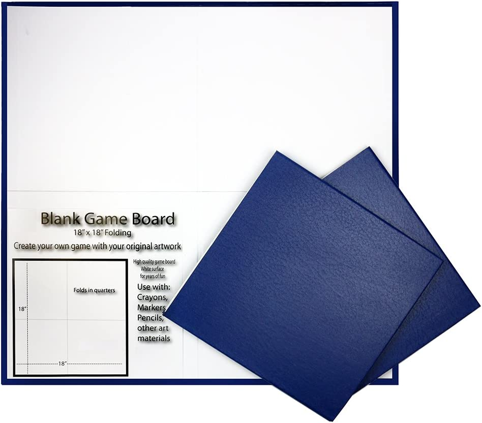 Folding Blank Game Board with Blue Pebble Cover