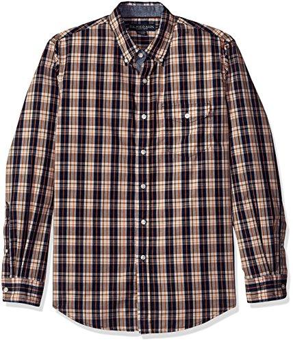U.S. Polo Assn. Mens Long Sleeve Classic Fit Plaid Poplin Sport Shirt