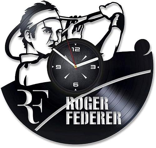 Roger Federer Tennis Vinyl Record Wall Clock. Decor