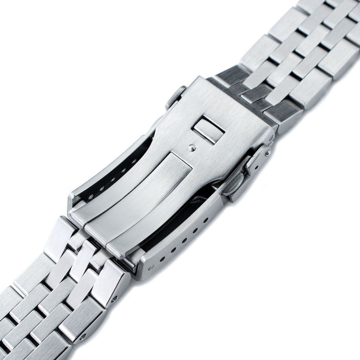 22mm ANGUS Jubilee 316L SS Watch Bracelet for Seiko SKX007, Brushed, Chamfer Clasp by Seiko Replacement by MiLTAT (Image #6)