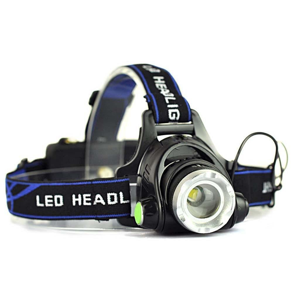 Afaith 5000 Lumens 3t6 Headlight Headlamp 218650 Battery Charger T6 High Power Cree Xm L Black 3xcree Xml