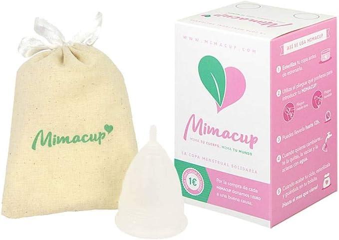 Mimacup Copa menstrual, Transparente, talla L