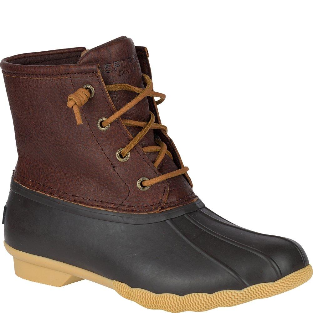 Sperry Top-Sider Women's Salwater Thinsulate Tan Dark Rain Boot, Brown, 7.5 M US
