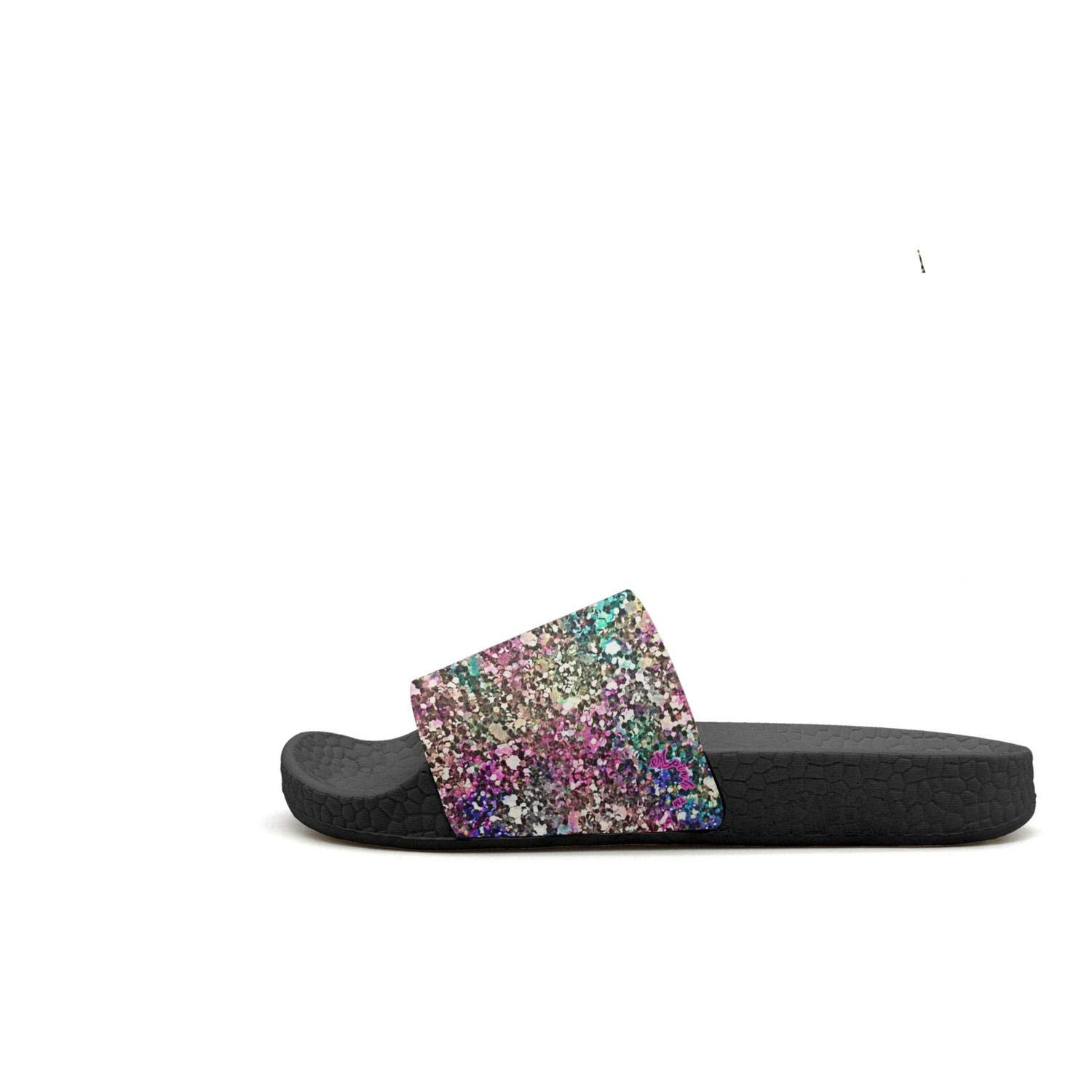 Mens Rainbow Colorful Abstract Paint Swirl Slipper for Mens Sole House Shoes