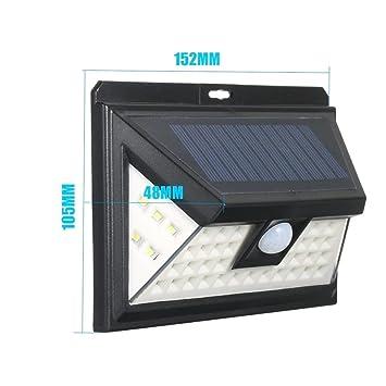 44 Leds Energía Solar PIR Sensor De Movimiento Aplique
