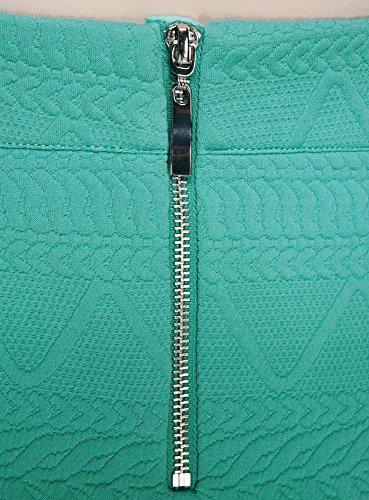 Turquoise Tissu Mini 7300n Collection Jupe Femme Textur en oodji xR0OwHzqn