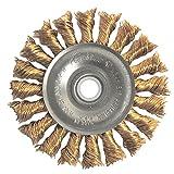 Weiler 8271 Standard Twist Knot Wire Wheel, 3'', 0.20'' Bronze Fill, 1/2''-3/8'' Arbor Hole (Pack of 10)