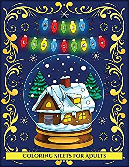 Amazon Com Coloring Sheets For Adults Merry Christmas An Adult
