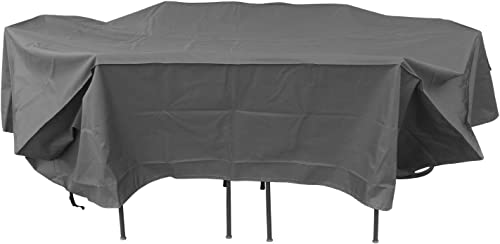 Duraviva Rectangular Oval Patio Table and Chair Set Weatherproof Cover – Waterproof, UV Resistant – Large 110 x 85 inches