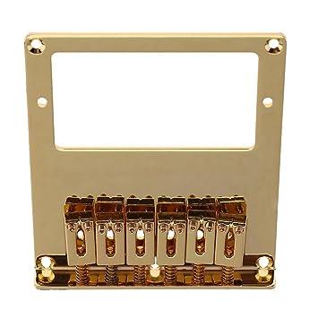 broadroot guitarra 6 cuadrado soporte de sillín Metal puente cuerdas para guitarra eléctrica, dorado